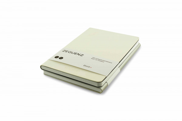 Zequenz Duo Plus 360 Notizbuch B6 Weiß Silber