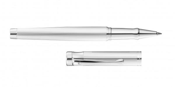 Waldmann Tango Rollerball Silber Linien-Design