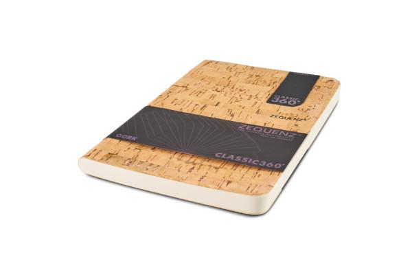 Zequenz Cork Lite Notizbuch B6 Cleanstyle natural B