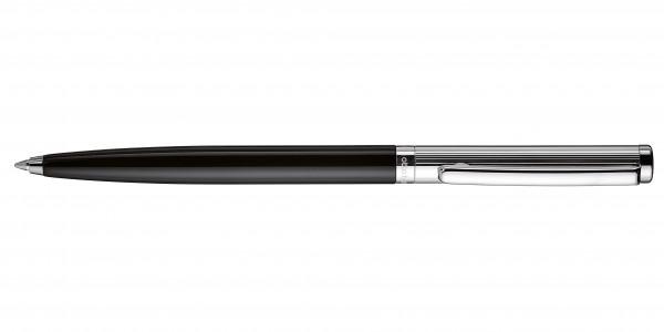 Otto Hutt Entwurf 01 Kugelschreiber Streifen Guilloche Schwarz