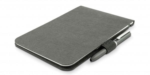 Off Lines Zettelwirt Notizblock 9x13cm Schwarz mit Stiftschlaufe und Stift