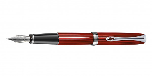 Diplomat Excellence A2 fountain pen skyline red nib stainless steel