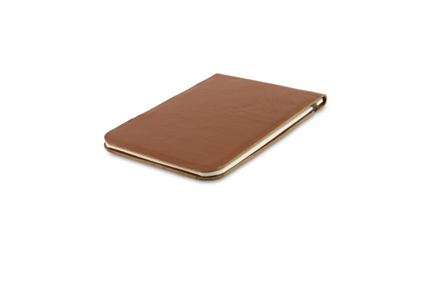 Off Lines Leather Notebook A7 Cognac