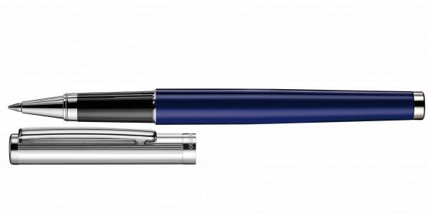 Otto Hutt Entwurf 01 Rollerball Streifen Guilloche Blau