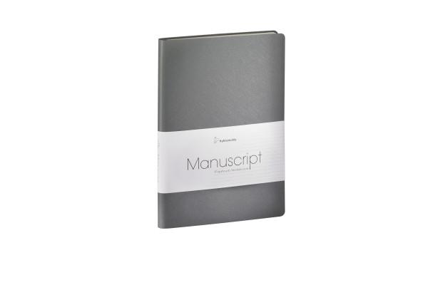 Hahnemühle MANUSCRIPT A5 Notizbuch recycl. Leder Grau