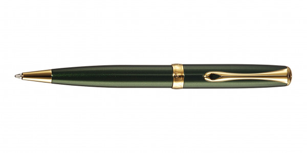 Diplomat Excellence A2 ballpen evergreen gold