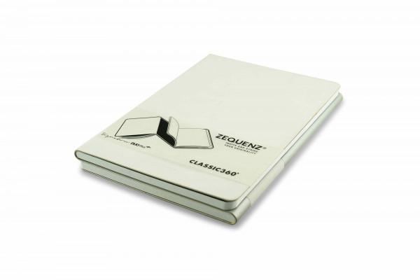 Zequenz Duo Plus 360 Notizbuch A5 Weiß Silber