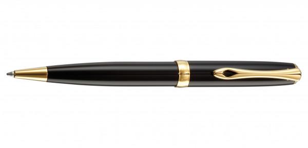 Diplomat Excellence A2 Kugelschreiber Lack Schwarz vergoldet
