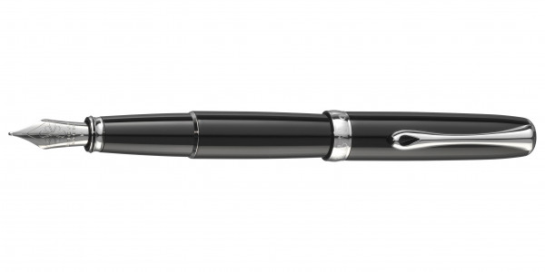 Diplomat Excellence A2 fountain pen black lacquer nib stainless steel