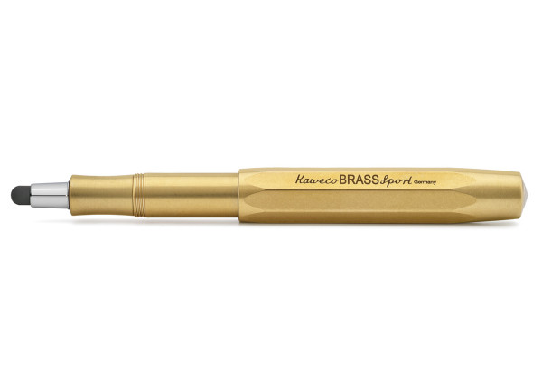 Kaweco BRASS Sport CONNECT Touch Stylus mit Spitze Silber