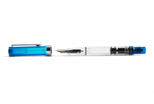 TWSBI ECO Kolbenfüllhalter Transparent Blau