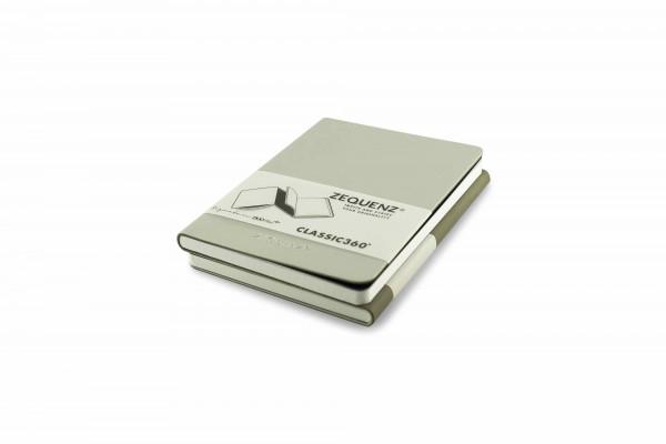 Zequenz Duo Plus 360 Notizbuch A6 Silber Grau