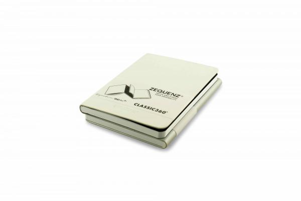 Zequenz Duo Plus 360 Notizbuch A6 Weiß Silber