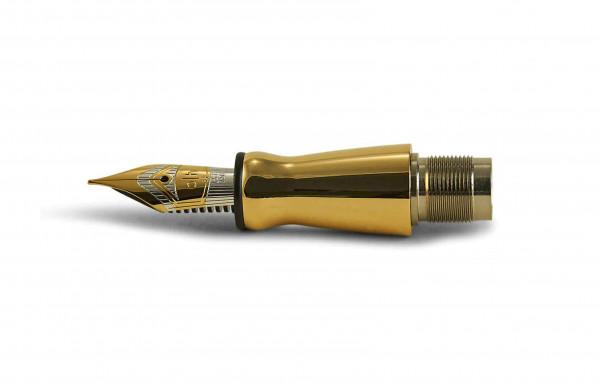 Otto Hutt Entwurf 06 Feder Einheit 18kt Gelbgold Bicolor Extra Fein