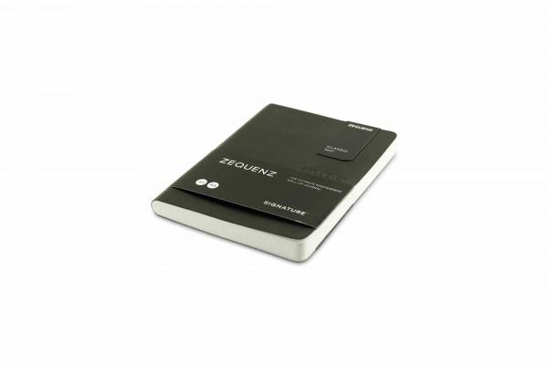 Zequenz Signature Lite 360 Notizbuch A6 Schwarz