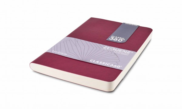 Zequenz Boutique Notizbuch 360 Aubergine B6
