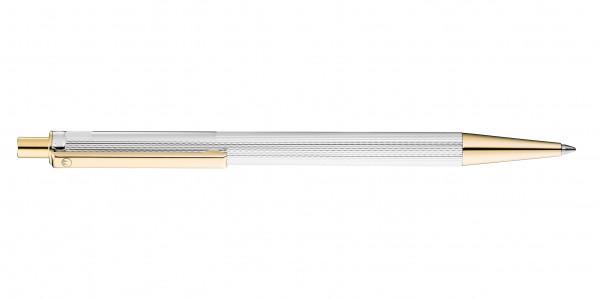 Waldmann Eco Druckkugelschreiber Korn-Design Silber Gold