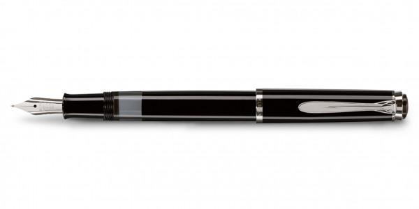 Pelikan Classic 205 Kolbenfüllhalter Schwarz Silber