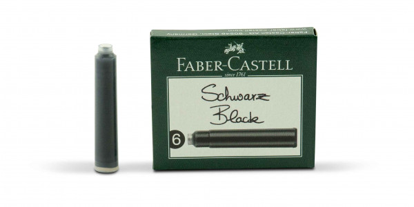 Faber-Castell Standard Tintenpatronen Schwarz