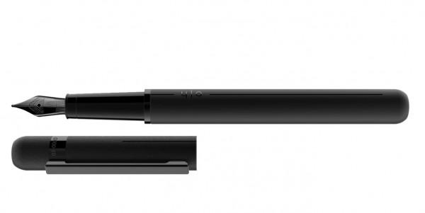 Otto Hutt Entwurf 03 Füllhalter All Black mit Stahl PVD Feder