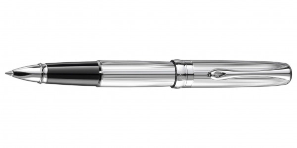 Diplomat Excellence A2 rollerball guilloche chrome