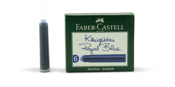 Faber-Castell Ink cartridge standard royal blue erasable