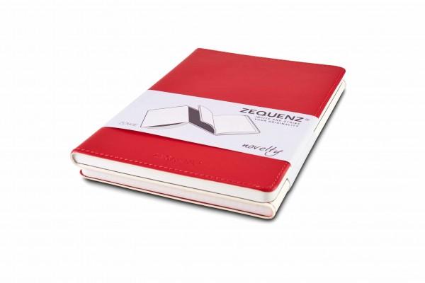 Zequenz Duo Notizbuch Weiß Rot B6