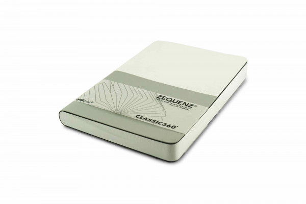 Zequenz Basic Plus 360 Notizbuch A5 Weiß Silber
