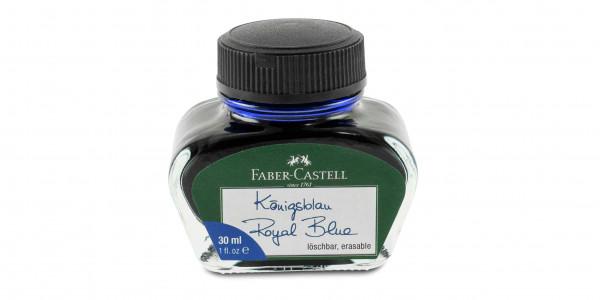 Faber-Castell Tintenglas 30 ml Königsblau löschbar