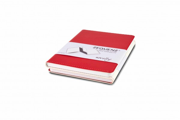 Zequenz Duo Notizbuch Weiß Rot A6