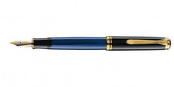 Pelikan Souverän 800 Kolbenfüllhalter Schwarz Blau