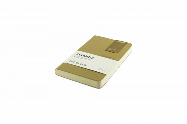 Zequenz The Color Notizbuch A6- Taupe Braun