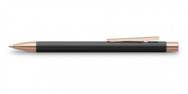 Faber-Castell Neo Slim Metall Kugelschreiber Schwarz Rosegold