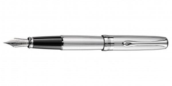 Diplomat Excellence A2 fountain pen guilloche chrome nib stainless steel