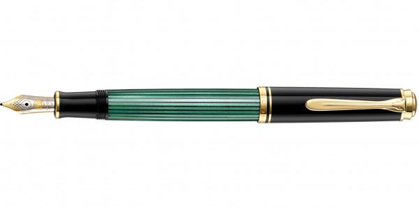 Pelikan Souverän 400 piston fountain pen black green