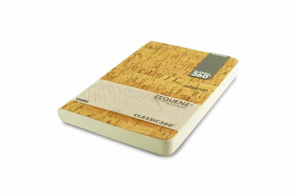Zequenz Cork Classic notebook A5 Cleanstyle natural B
