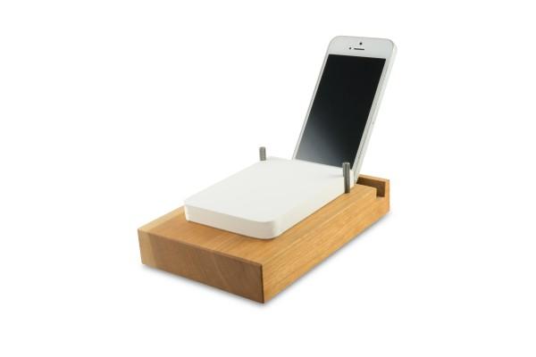 Off Lines Papierstation flach mit Smartphone Rille Kirsche