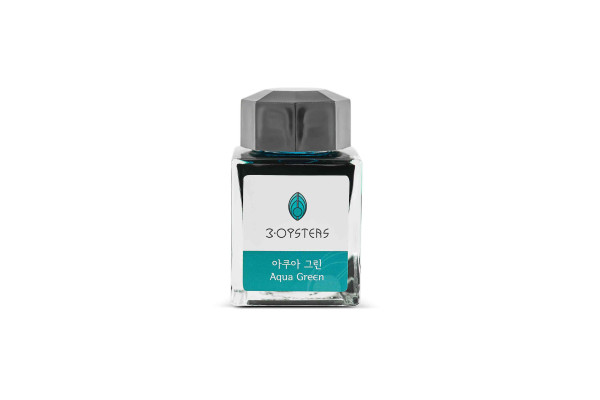 3Oysters Delicious INK Tintenglas AQUA GREEN (Türkisgrün) 38ml