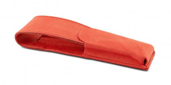 Otto Hutt Leder Etui Rot für 2 Schreibgeräte