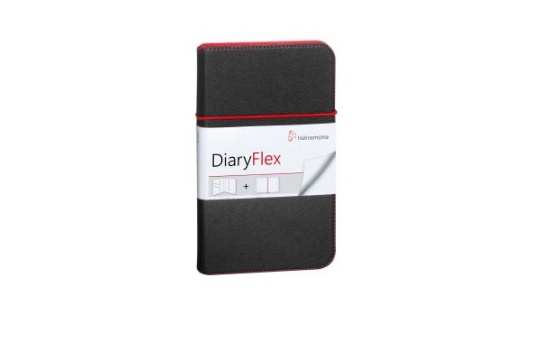 Hahnemühle DIARY FLEX Notizbuch 11.5 x 19 cm Schwarz-Rot Blank