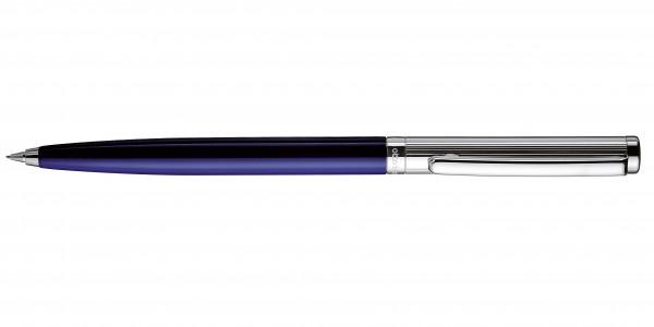 Otto Hutt Entwurf 01 Dreh Bleistift Streifen Guilloche Blau