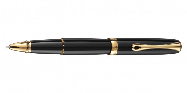 Diplomat Excellence A2 rollerball black lacquer gold