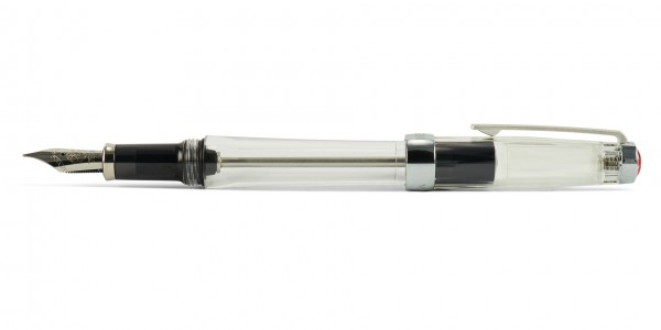 TWSBI Vac 700R vucuum fountain pen clear with posted cap