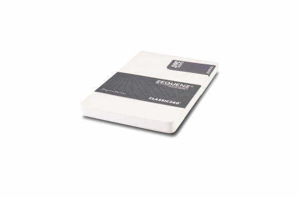Zequenz Signature notepad 360 white A6- 9.5x14.5 cm