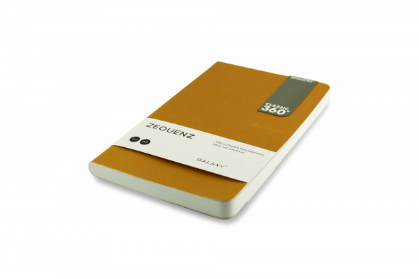 Zequenz Galaxy 360 Notizbuch A5 Slim Gold 13x21 cm