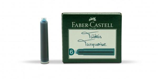 Faber-Castell Standard Tintenpatronen Türkis