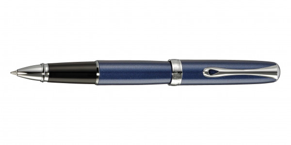 Diplomat Excellence A2 rollerball midnight blue chrome