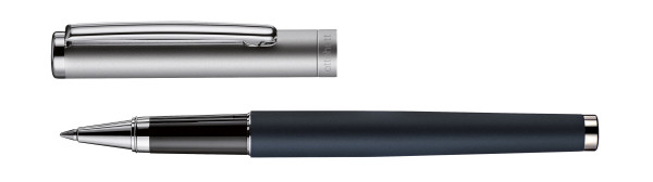 Otto Hutt Design 01 rollerball blue frosted ruthenium frosted