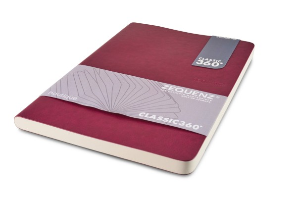 Zequenz Boutique notebook 360 aubergine A5 14.8x21 cm