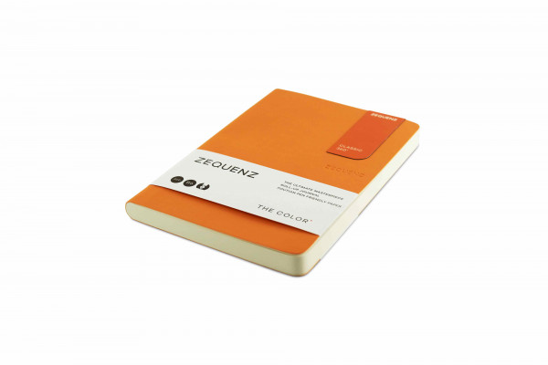 Zequenz The Color Notizbuch B6 Aprikosen Orange